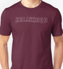 Hollywood Sign, California - Contrast Version Unisex T-Shirt