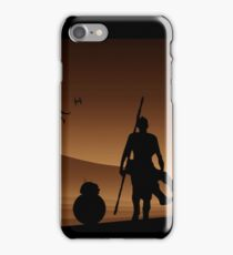 Rey and BB-8 Silhouette Art iPhone Case/Skin