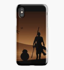 Rey and BB-8 Silhouette Art iPhone Case