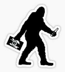 SASQUATCH BIGFOOT With A Case Of BEER  Sticker