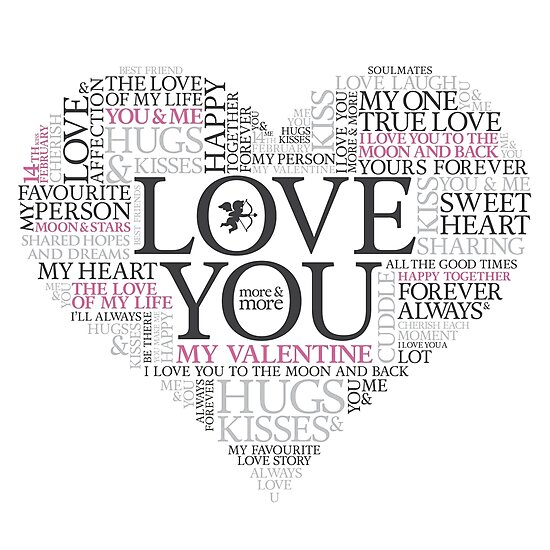 Word Art I Love You Valentines Heart By Andrew Young