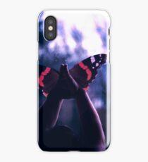 Metamorphosis, hands to butterflies iPhone Case/Skin