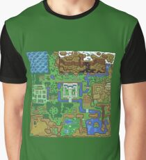 The Legend of Zelda: A Link to the Past Map Graphic T-Shirt