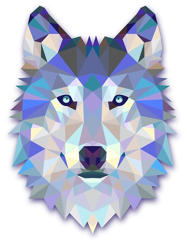 Quot Triangle Wolf Quot Art Prints By Hndra Redbubble