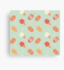 Ice cream pattern Canvas Print