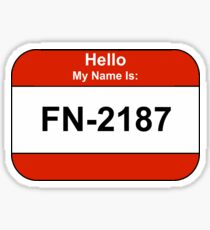 My name is 2187 Sticker