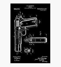 Gun blueprint wall art redbubble 1911 patent blueprint photographic print malvernweather Choice Image