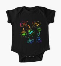 bill cipher is a dork tiles- rainbow One Piece - Short Sleeve