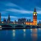 Houses of Parliament at Night by Michael Breitung