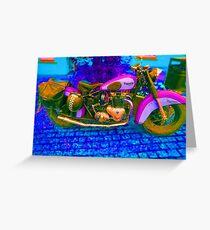 53 Triumph (1) - Retro Pop Art Bike Greeting Card