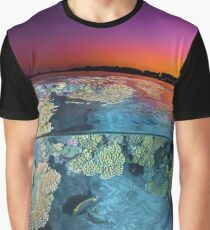 Dusk at the Red Sea Reef Graphic T-Shirt