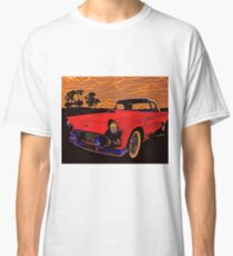 Old Trevor's 56 T-Bird in red out at the sheep station round bout sundown Classic T-Shirt