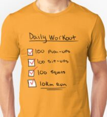 One Punch Man Workout Unisex T-Shirt