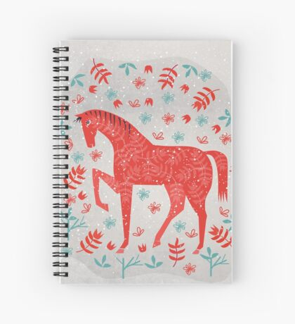 The Red Horse Spiral Notebook