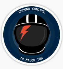 Ground Control To Major Tom - David Bowie Sticker