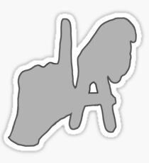 Los Angeles Hand Sign Sticker
