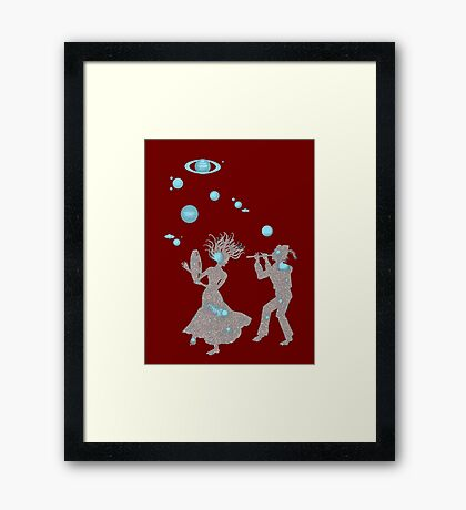 Cosmic Dance with Music of the Spheres Framed Print