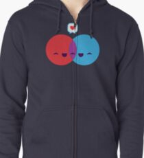 Love Diagram Zipped Hoodie
