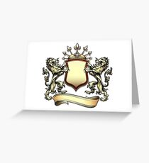The heraldry shield with lions Greeting Card