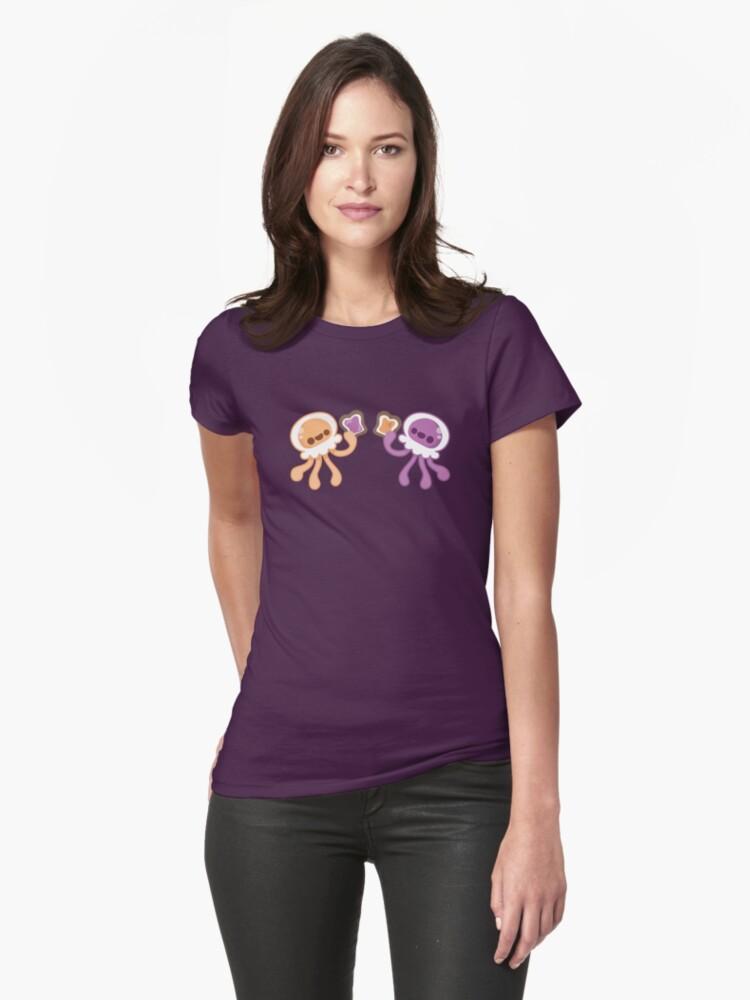 Peanut Butter Jellyfish Love Womens T-Shirt Front