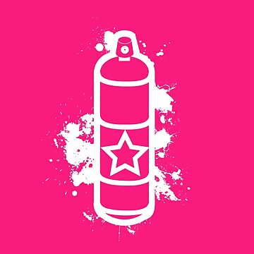 Single Spray Can White by graffitiswag