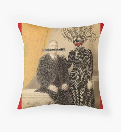 The Happy Couple Throw Pillow