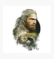 Geralt of Rivia - The Witcher 3 Photographic Print
