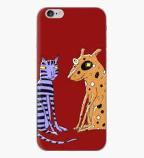 Opposites Attract Cat and Dog iPhone Case