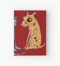 Opposites Attract Cat and Dog Hardcover Journal