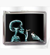 Póster skull smoke