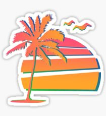 80's Sunset Sticker