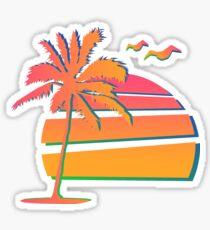 80's Sunset Sticker