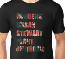 British Rock Singers - Rodgers - Gillan - Stewart - Plant - Coverdale Unisex T-Shirt