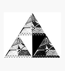 Tri-force pattern Photographic Print
