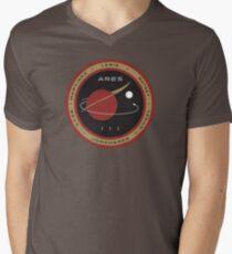 Camiseta de cuello en V Parche Misión Ares III - El marciano
