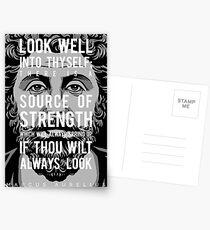 Marcus Aurelius quote: Look well into thyself Postcards