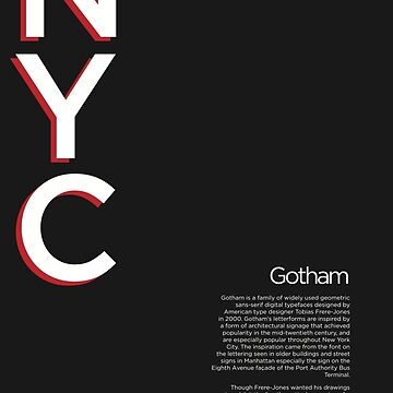Gotham Typography Poster by burnedsap