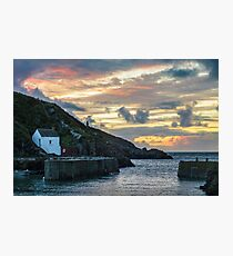 Porthgain Harbour at Sunset Photographic Print
