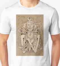 image of pharaoh mummy with snakes on parchment Unisex T-Shirt