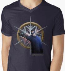 Kapitän kalt T-Shirt mit V-Ausschnitt für Männer