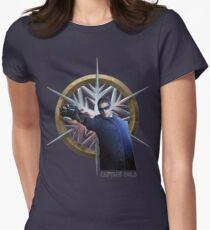 Kapitän kalt Tailliertes T-Shirt für Frauen