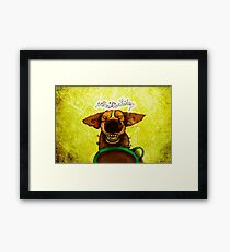 WHAT MY COFFEE SAYS TO ME AUGUST 14, 2015 Framed Print