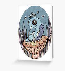 Little Blue Caterpillar Greeting Card