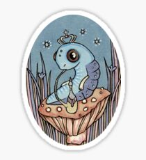 Little Blue Caterpillar Sticker