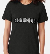Moon phases Tri-blend T-Shirt