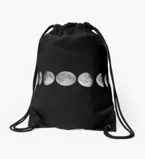 Moon phases Drawstring Bag