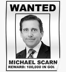 the office posters. the office michael scarn wanted poster posters