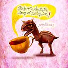 WHAT MY COFFEE SAYS TO ME MARCH 9, 2015 by catsinthebag
