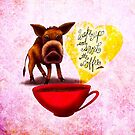 WHAT MY COFFEE SAYS TO ME MARCH 20, 2015 by catsinthebag