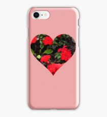 Valentine Heart and Flowers iPhone Case/Skin